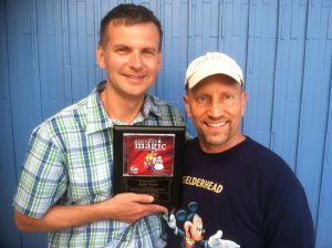 Andy Boyns pic with plaque